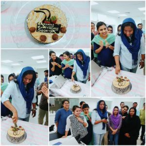 Birthday of staff
