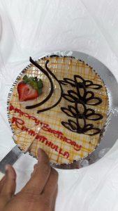 birthday cake of Rahmathullah