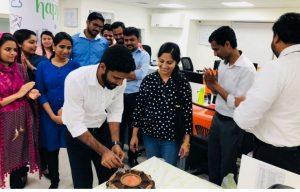 celebrating the birthday of employees