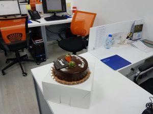 employee birthday cake