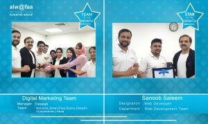 star and department of the month march