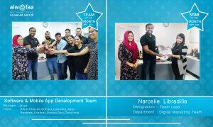 star and department of the month sep