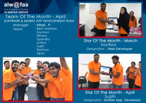 star and team of the month april