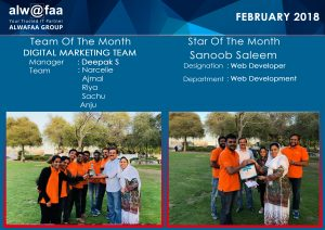 star and team of the month february