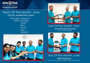 star and team of the month june