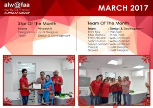star and team of the month march