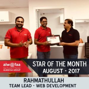 star of the month aug