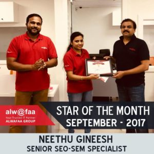 star of the month sep